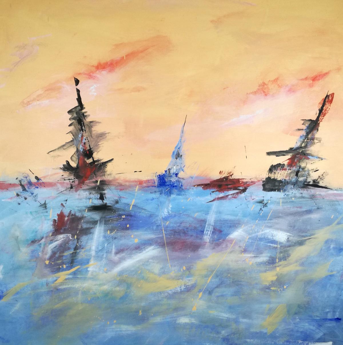 quadri astratti paesaggio c066 - quadri astratti paesaggio