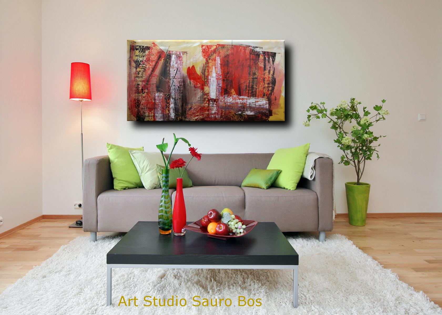 quadri astratti informali per soggiorno 160x80 | sauro bos