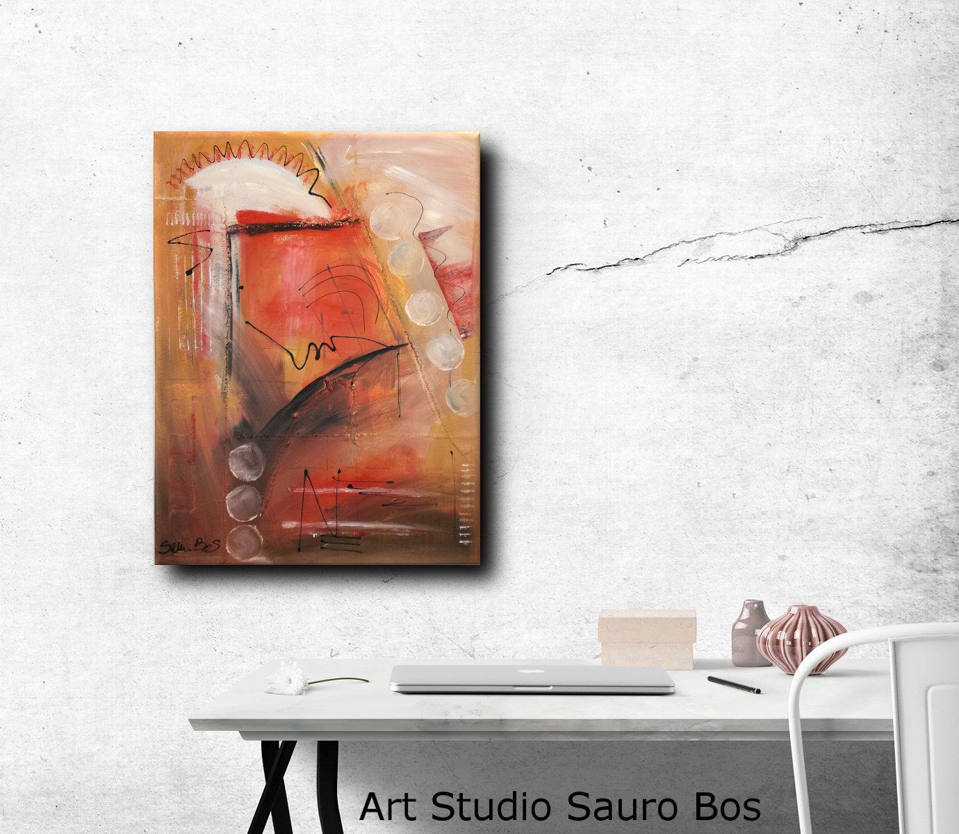 Quadri astratti moderni dipinti a mano sauro bos for Quadri moderni astratti dipinti a mano