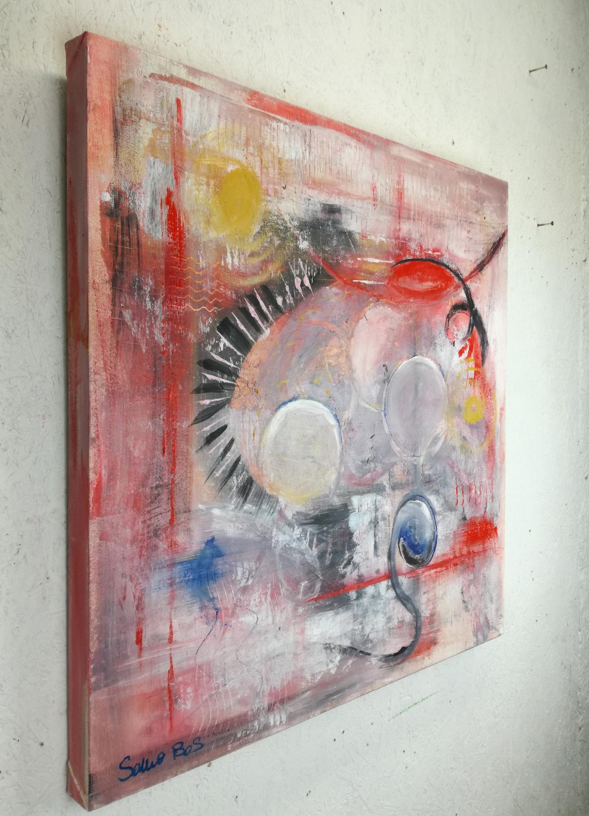 quadri moderni fatti a mano 70x70 | sauro bos