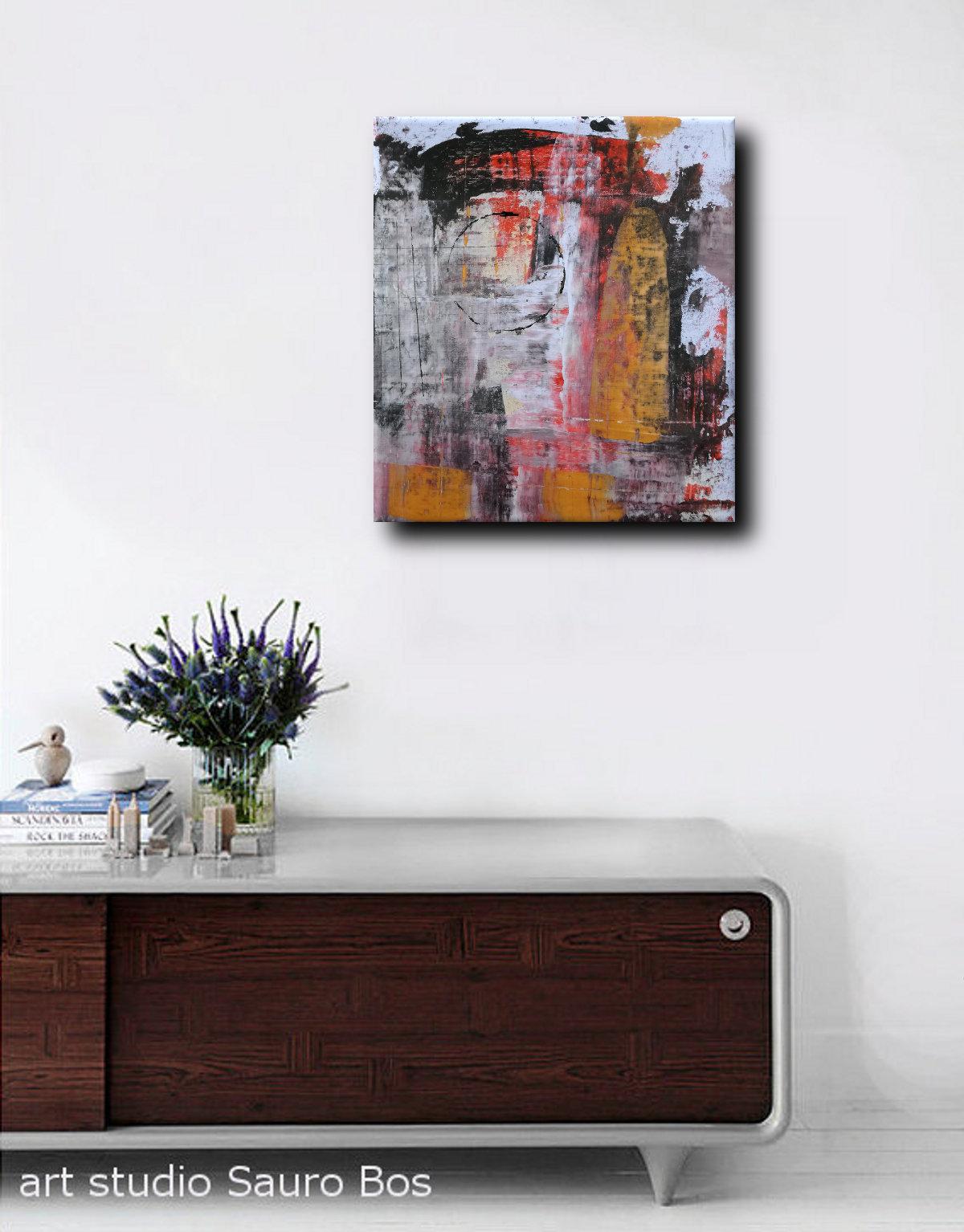 Quadri astratti moderni dipinti a mano sauro bos - Ikea quadri su tela ...