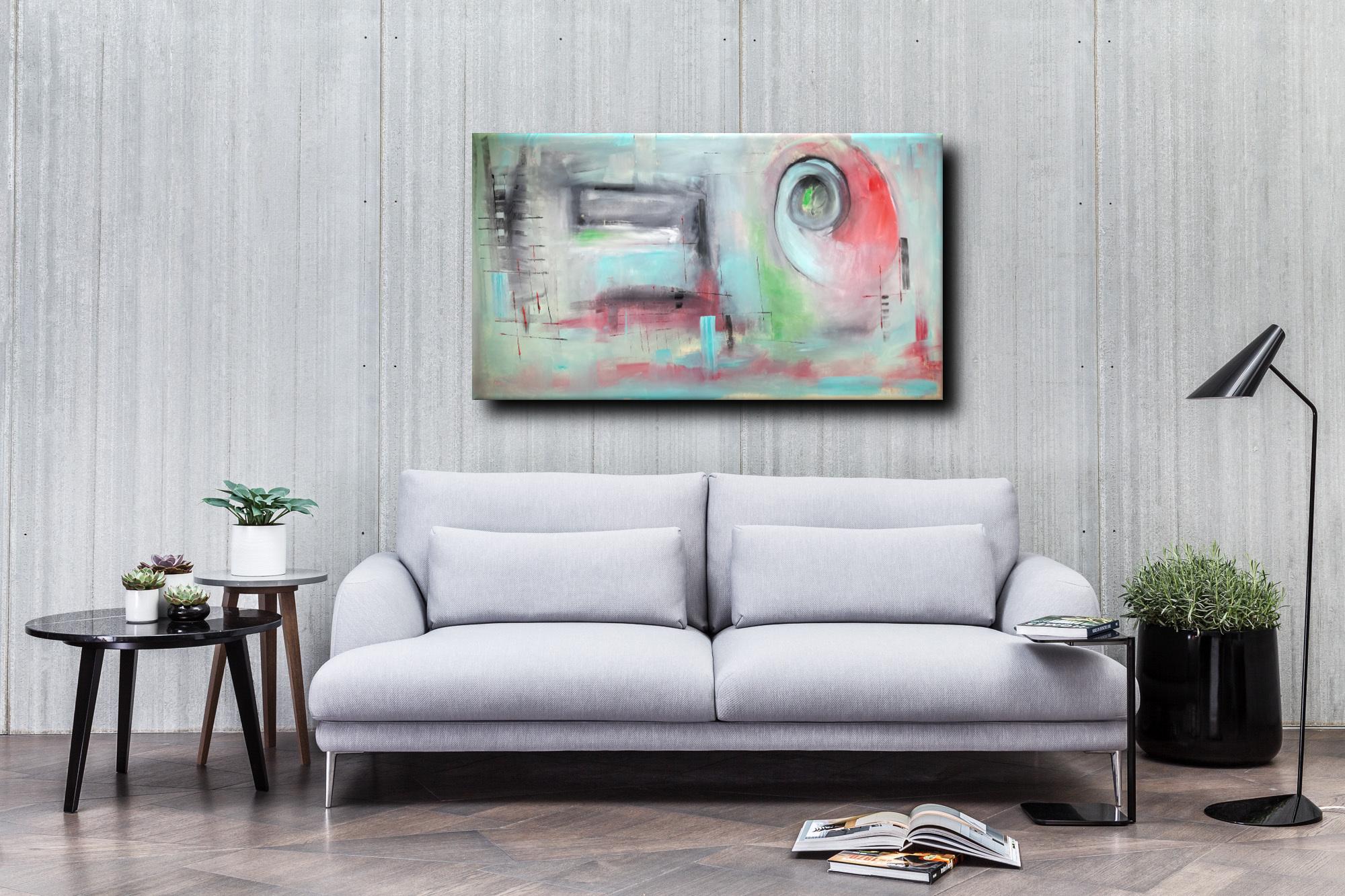 quadri modernic068 - quadri astratti informali per soggiorno 160x80