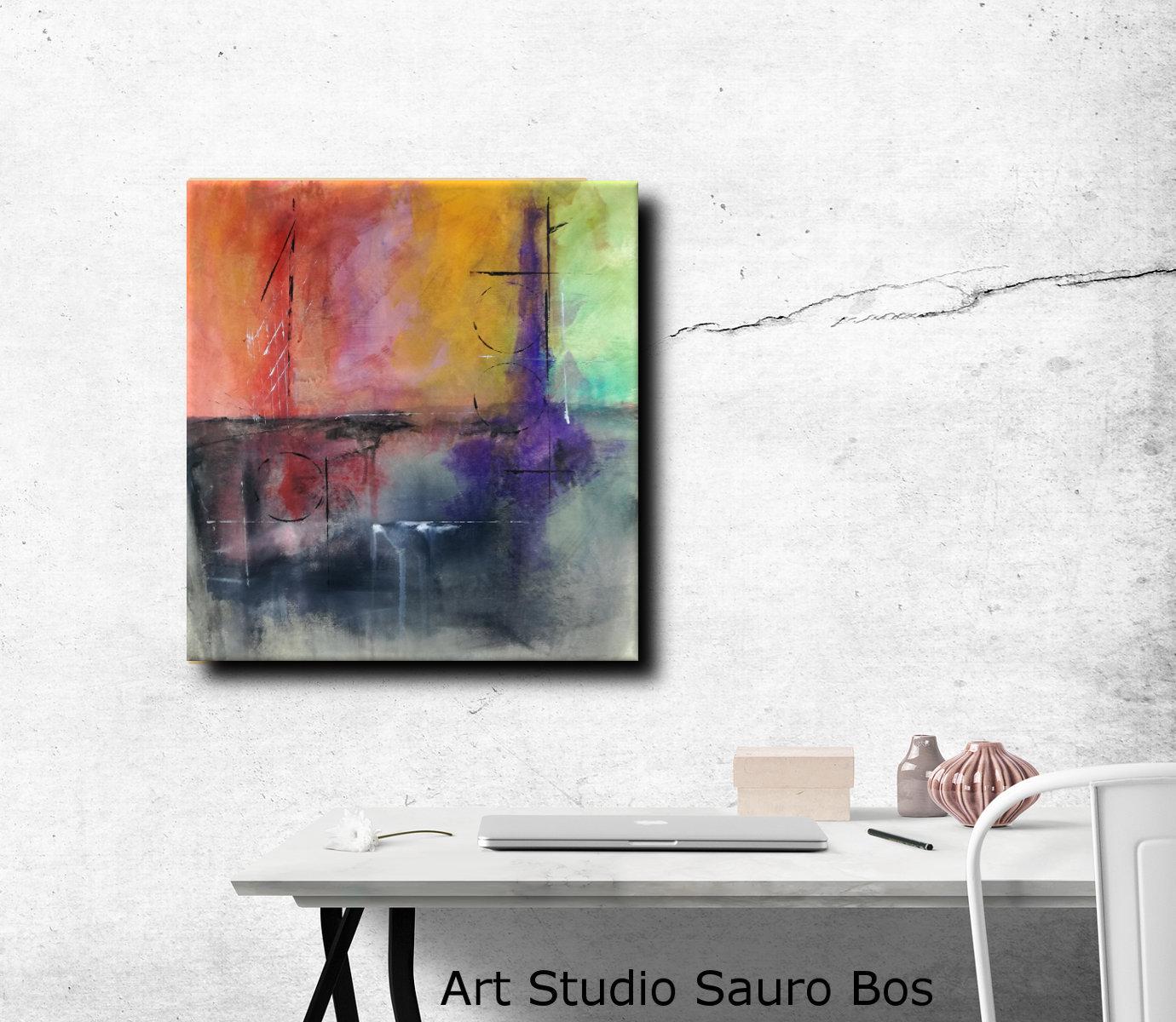quadri paesaggio moderno c074 - quadri moderni  fatti a mano 65x70
