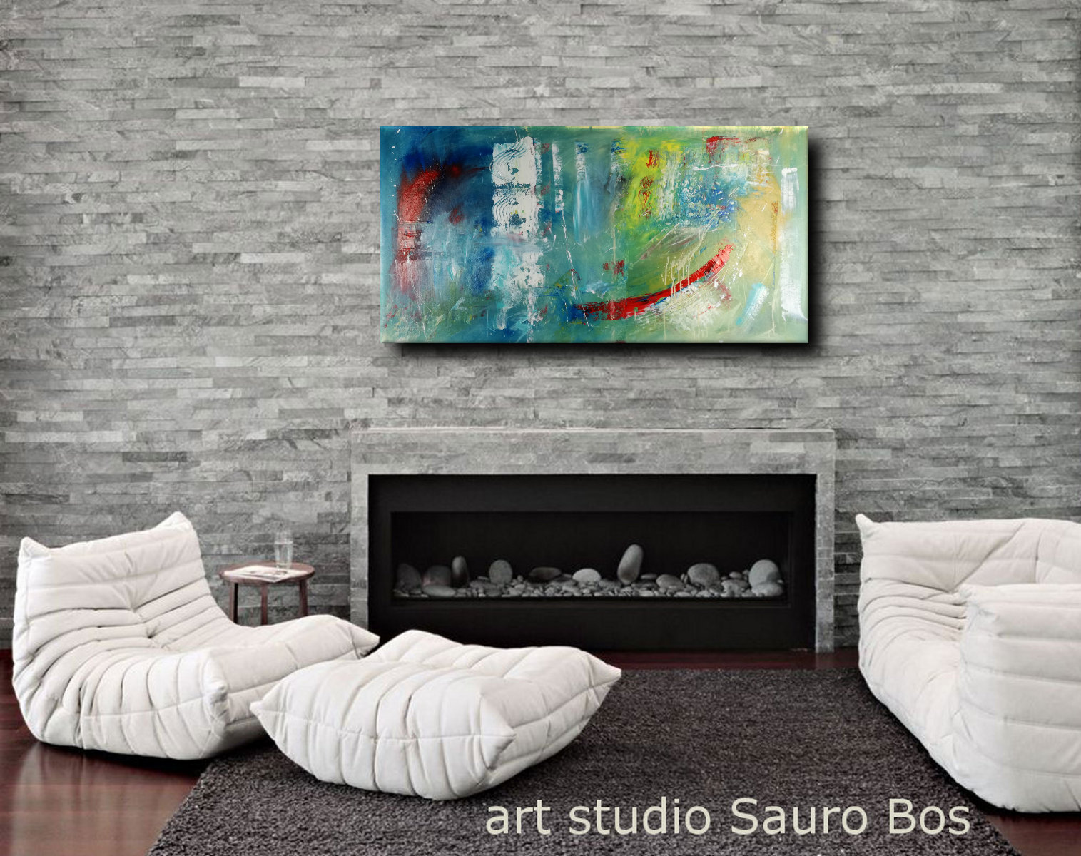 dipinti astratti c089 - quadri grandi dimensioni astratti blu