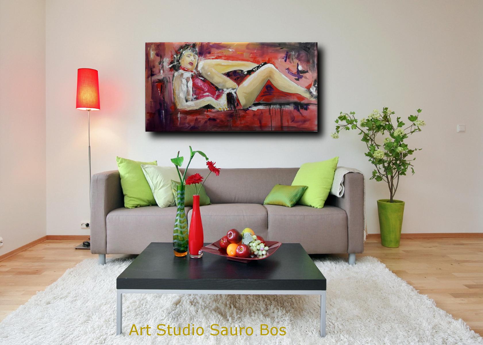 quadri fatti amano su tela d001 - dipinti grandi dimensioni moderni 120x60