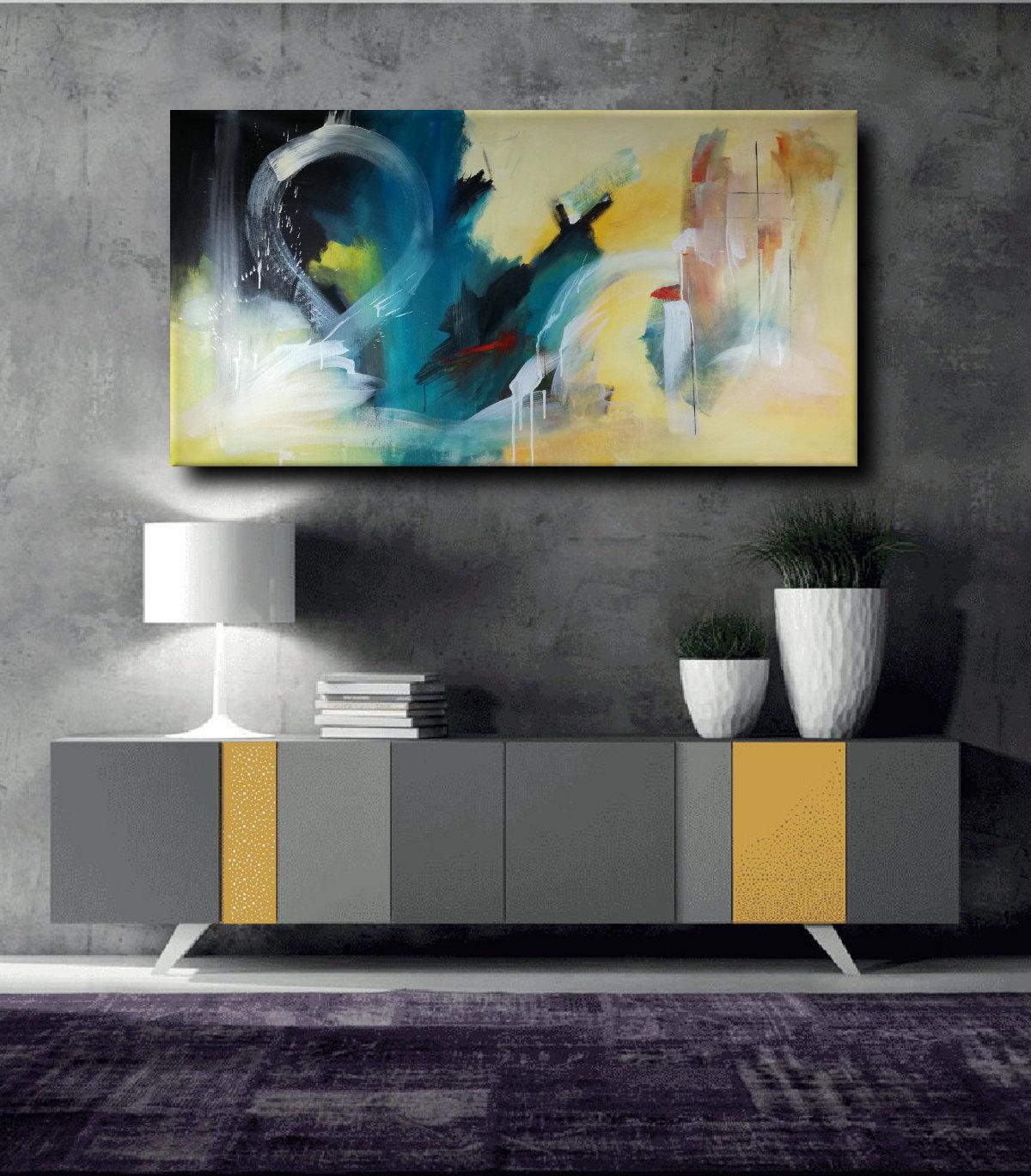Dipinti grandi dimensioni astratti 120x60 sauro bos for Quadri su tela astratti