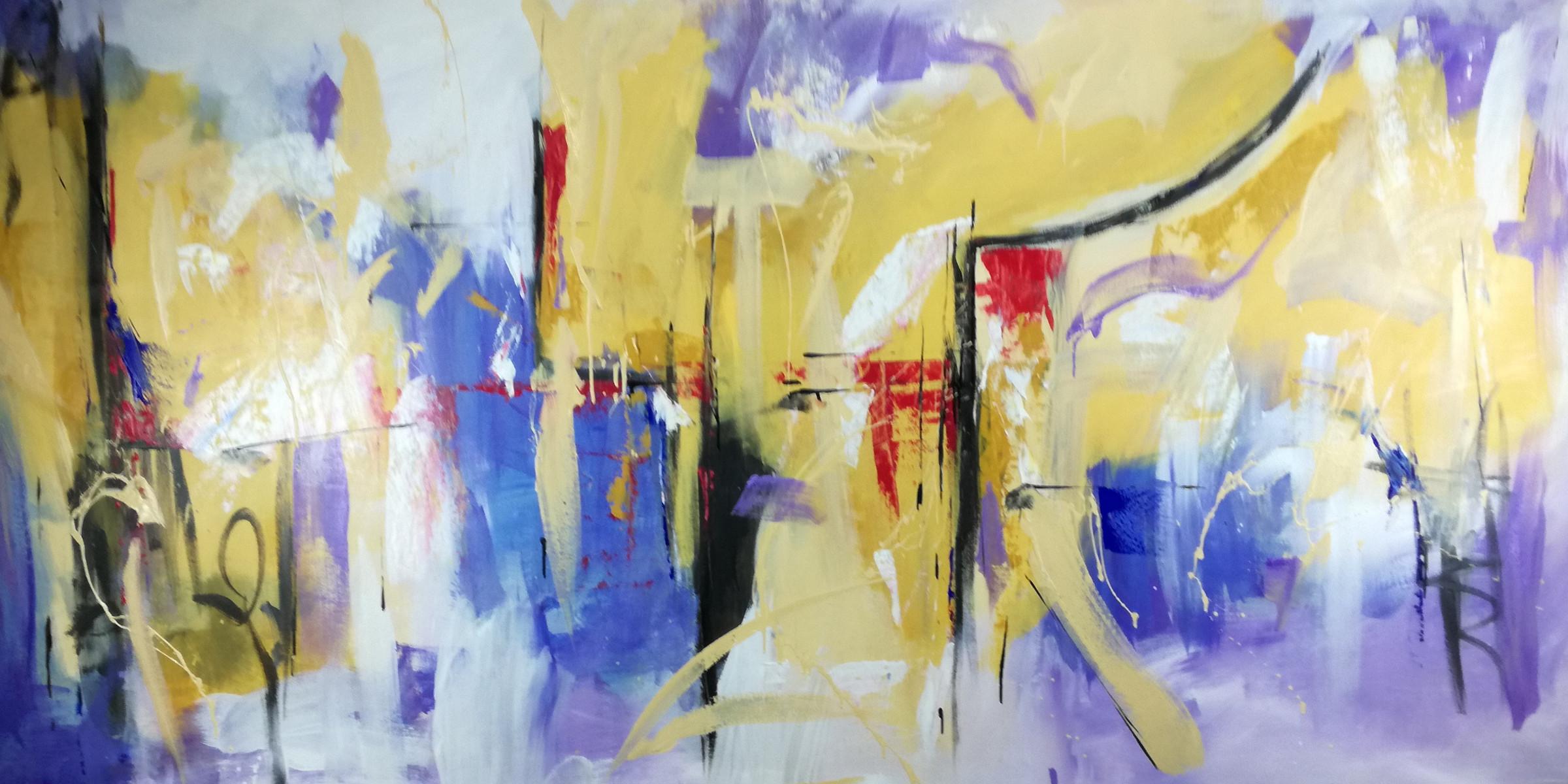 astratto-dipinto a mano-c109