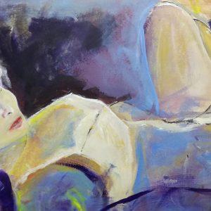 dipinto donna viola woman D002 300x300 - quadri grandi dimensioni moderni 120x60