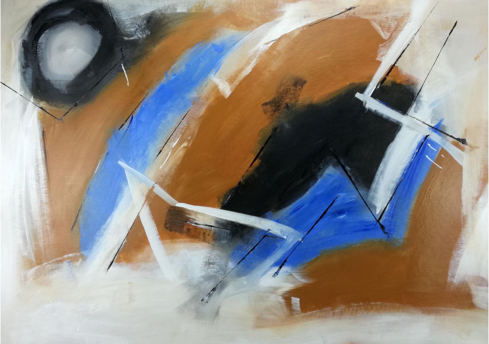 quadri astratti c128 - quadro pronto da appendere 100x70 astratto