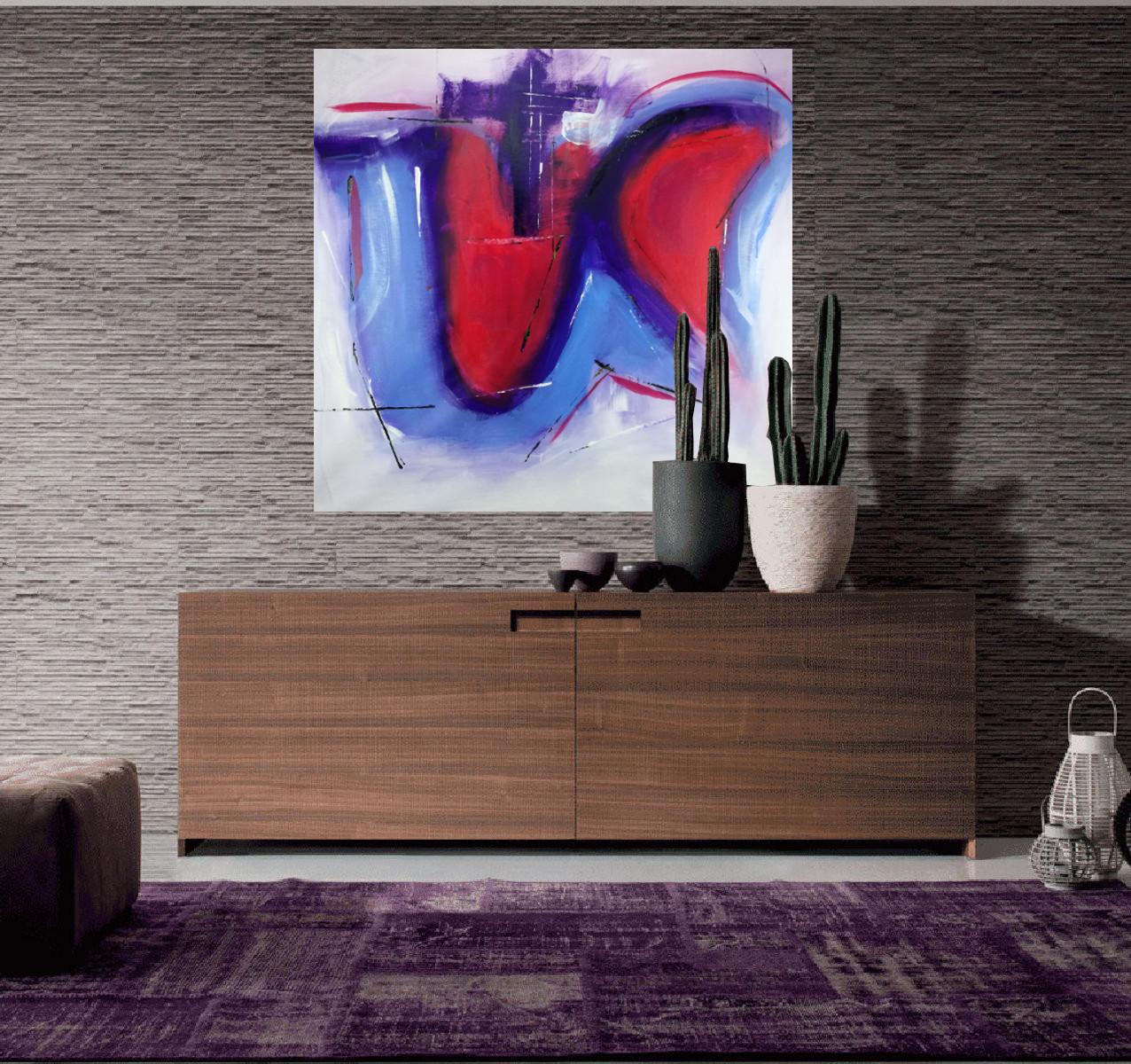 quadri astratti colorati c137 - quadri-astratti-su-tela-80x80