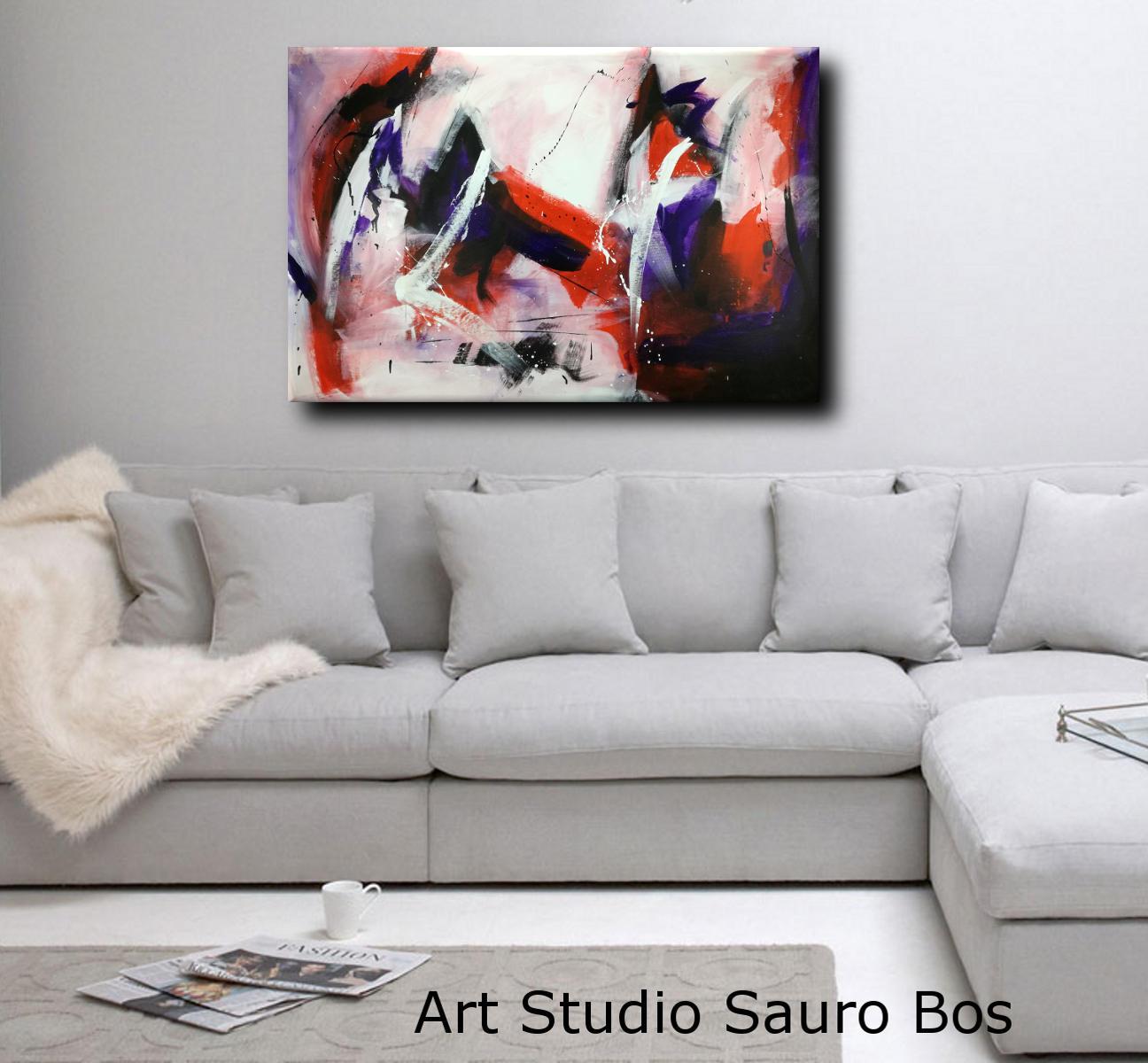 quadri astratti moderni colorati c106 - quadri dipinti a mano 120x80