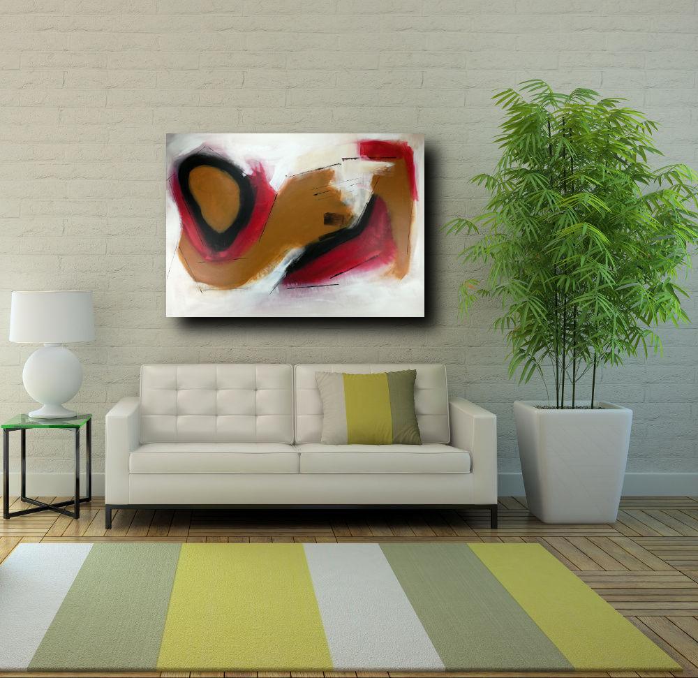 quadri-moderni-su-tela-100x70 rosso | sauro bos