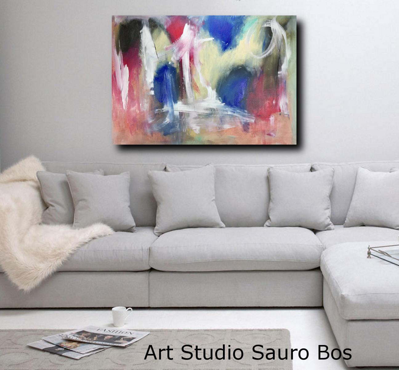 quadri astratti su tela c119 - quadro pronto da appendere 120x80