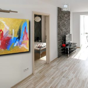 quadri astratti su tela grandi c117 300x300 - dipinto giallo dipinto a mano 120x80