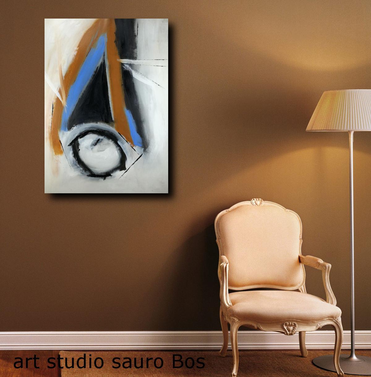 Quadri moderni colorati 100x70 ble sauro bos for Quadri astratti moderni verticali