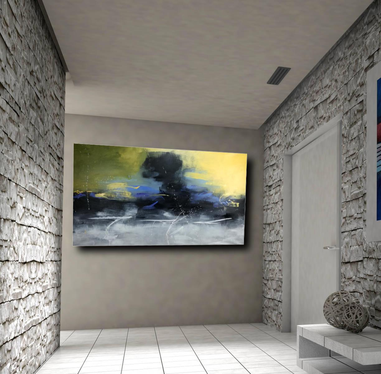 Quadri moderni paesaggi 200x100 sauro bos for Quadri su tela astratti