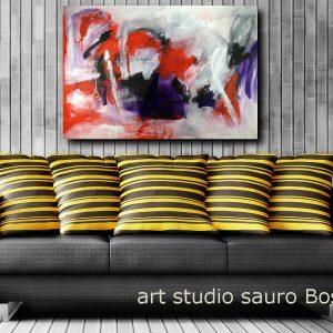 quadri moderni astratti colorati c107 300x300 - quadri rossi dipinti a mano 120x80