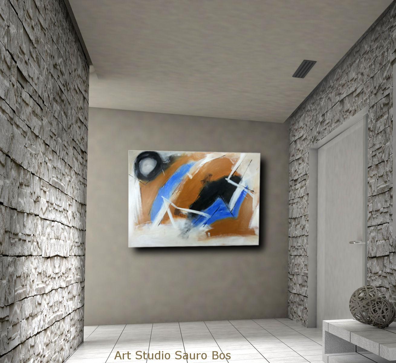 quadri moderni astratti su tela c128 - quadro pronto da appendere 100x70 astratto
