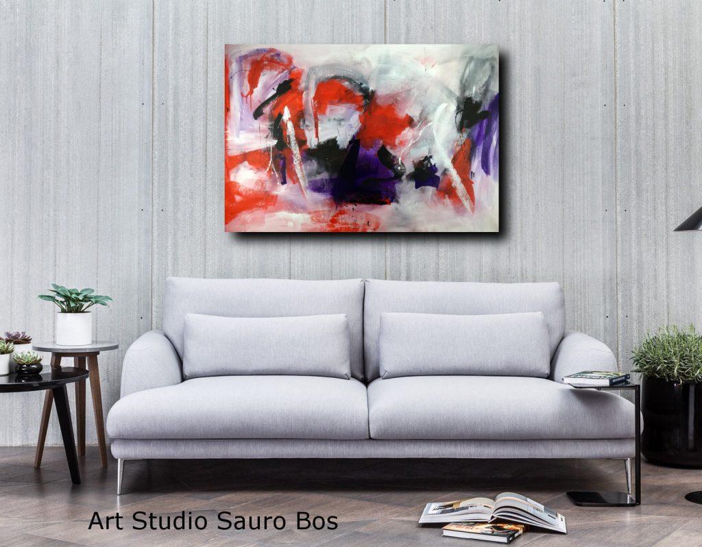 quadri astratti moderni dipinti a mano   sauro bos