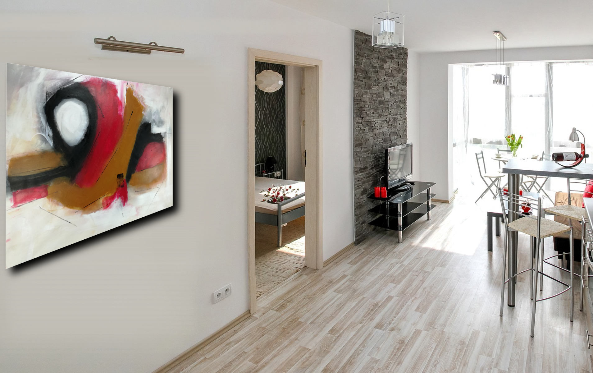 quadri moderni su tela 133 - dipinti-moderni-colorati-100x70
