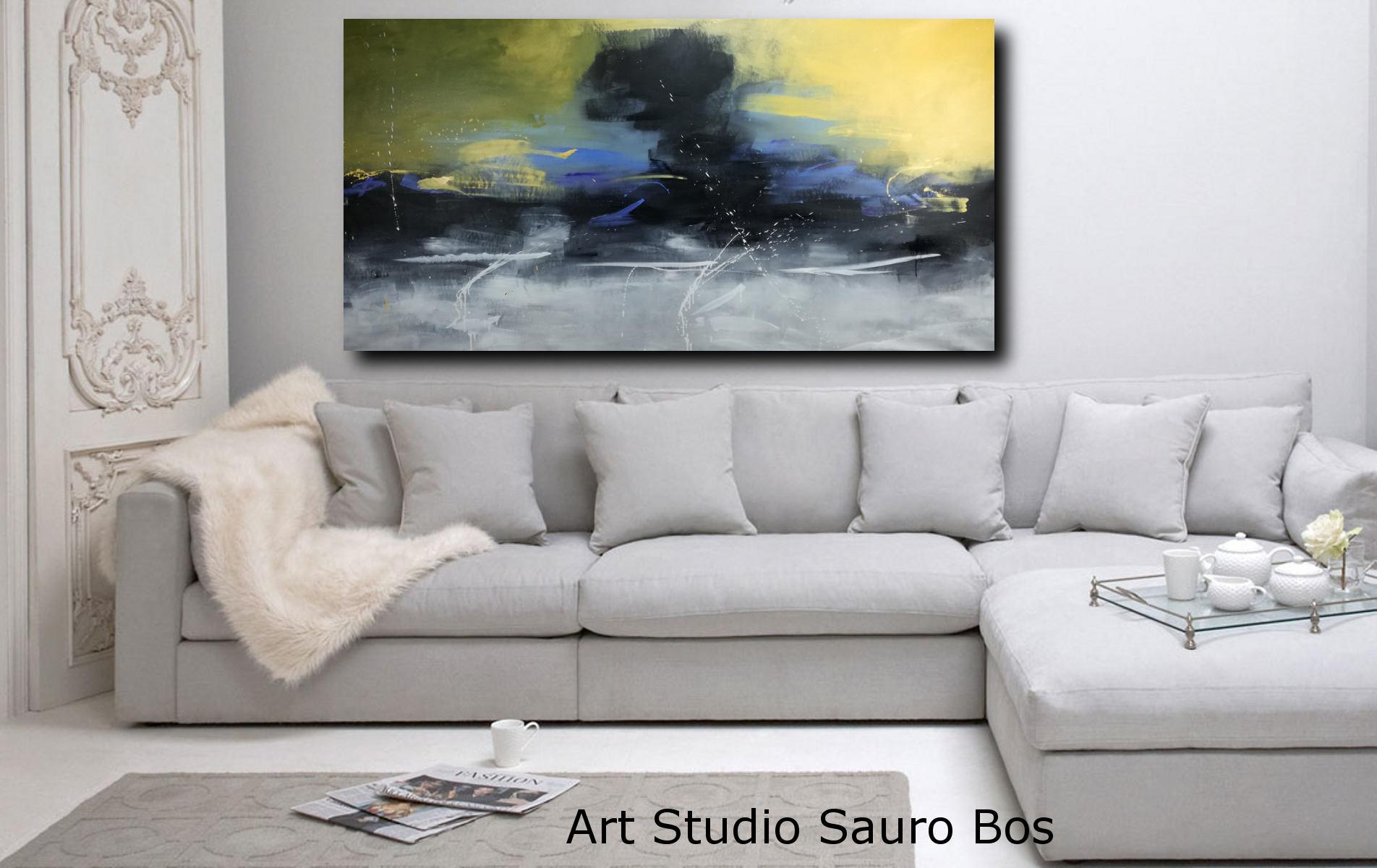 Quadri moderni paesaggi 200x100 sauro bos for Quadri moderni su tela
