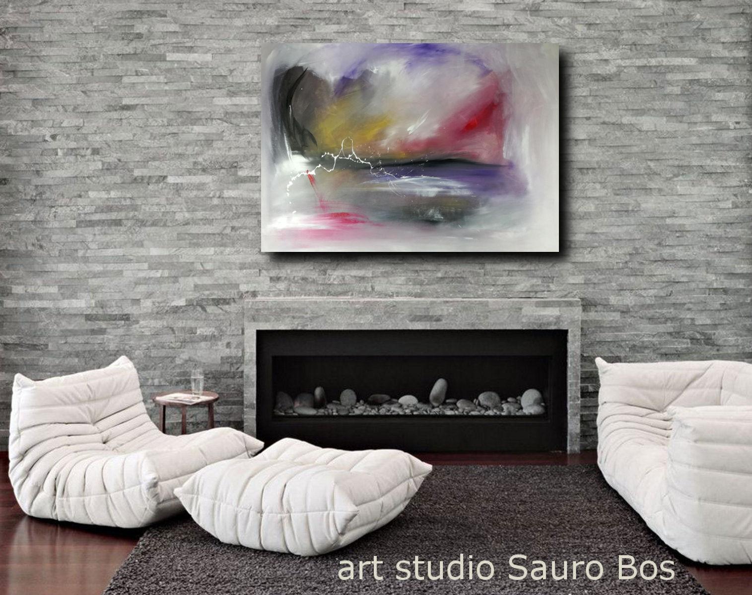 quadri moderni su tela c124 - quadro pronto da appendere 100x70