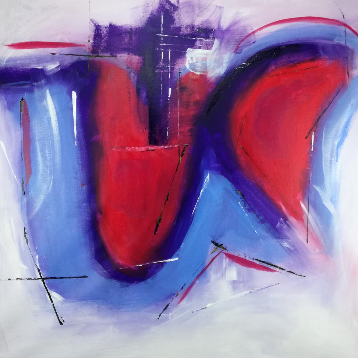 quadro rosso astratto c137 - quadri-astratti-su-tela-80x80