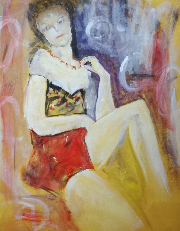 woman d004 - quadri moderni su tela 60x75