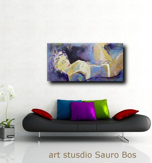 woman painting canvas D002 600x644 - quadri grandi dimensioni moderni 120x60