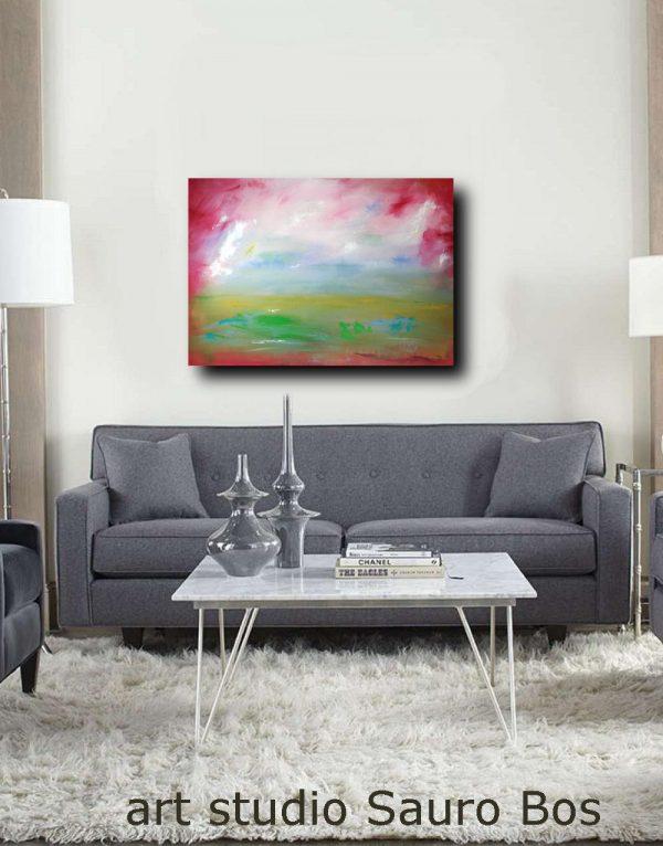 paesaggio moderno dipinto su tela 600x766 - dipinti-moderni-paesaggi-100x70 rosso