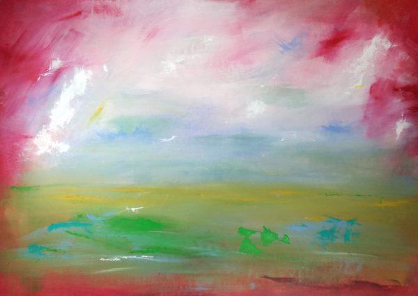 paesaggio rosso c142 600x425 - dipinti-moderni-paesaggi-100x70 rosso
