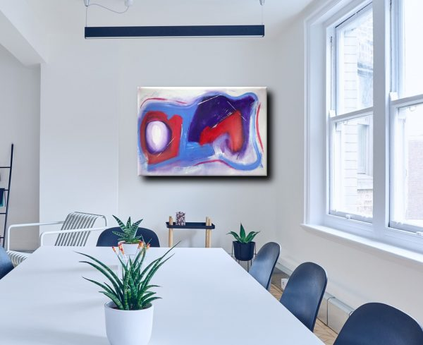quadri colorati moderni c139 600x489 - dipinti-moderni-colorati-100x70 rosso