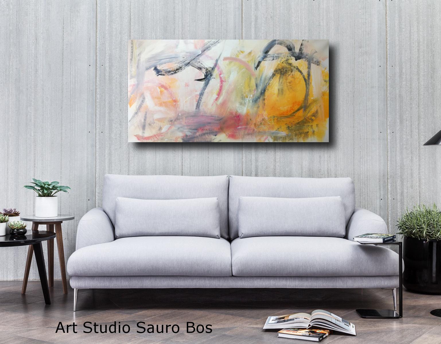 Dipinti Per Soggiorno : Dipinti moderni orizzontali per soggiorno sauro bos