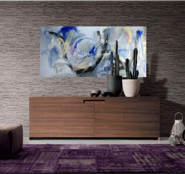 quadri astratti su tela c163 600x564 - dipinto astratto quadro  120x60