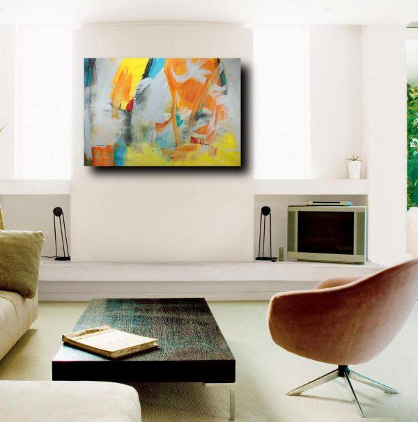 quadri astratti su tela grandi c173 600x606 - quadri grandi  su tela 120x80 giallo ble grigio