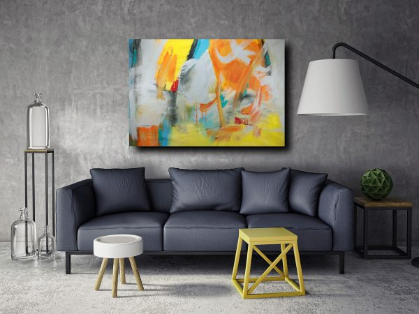 quadri-grandi-su-tela-astratti-giallo-c173