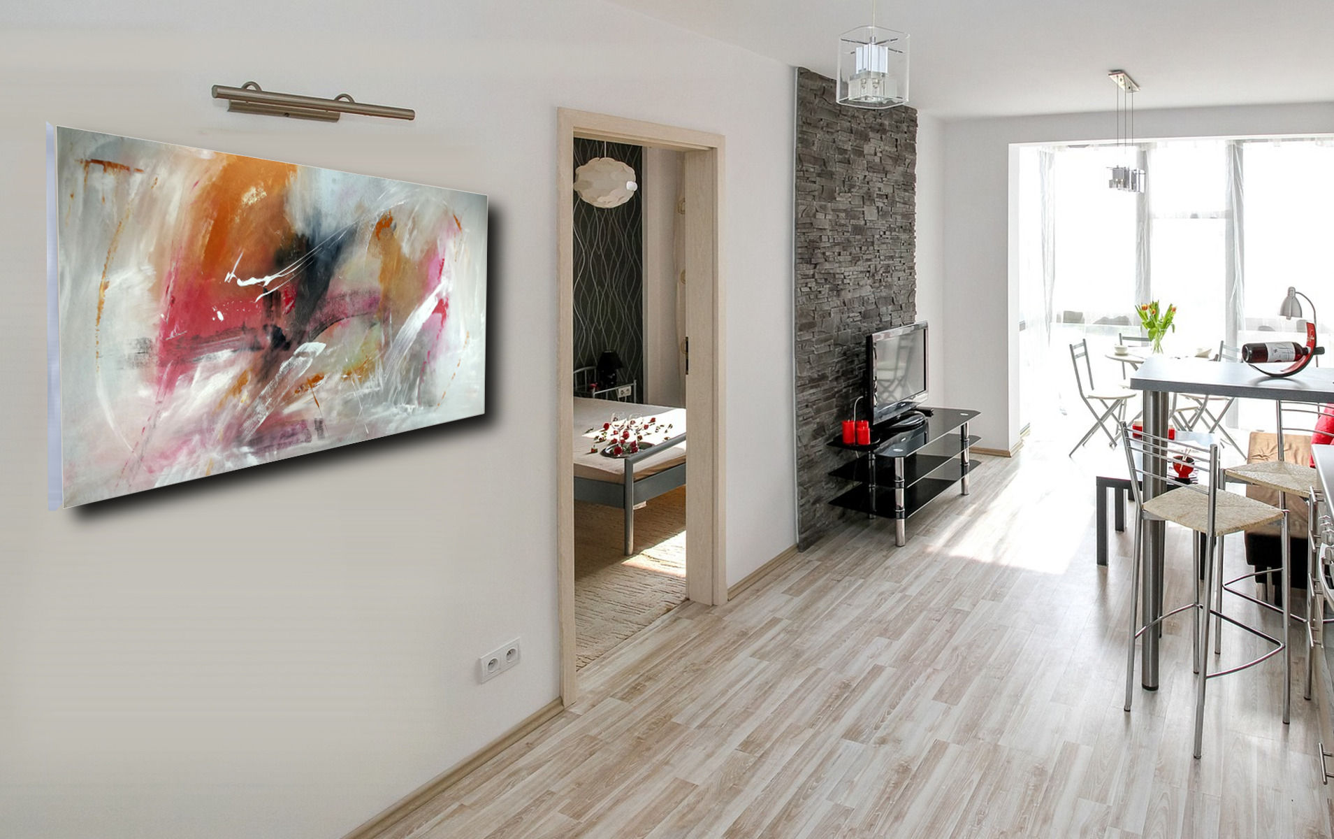Quadri astratti per soggiorno 120x60 sauro bos - Quadri moderni cucina ...
