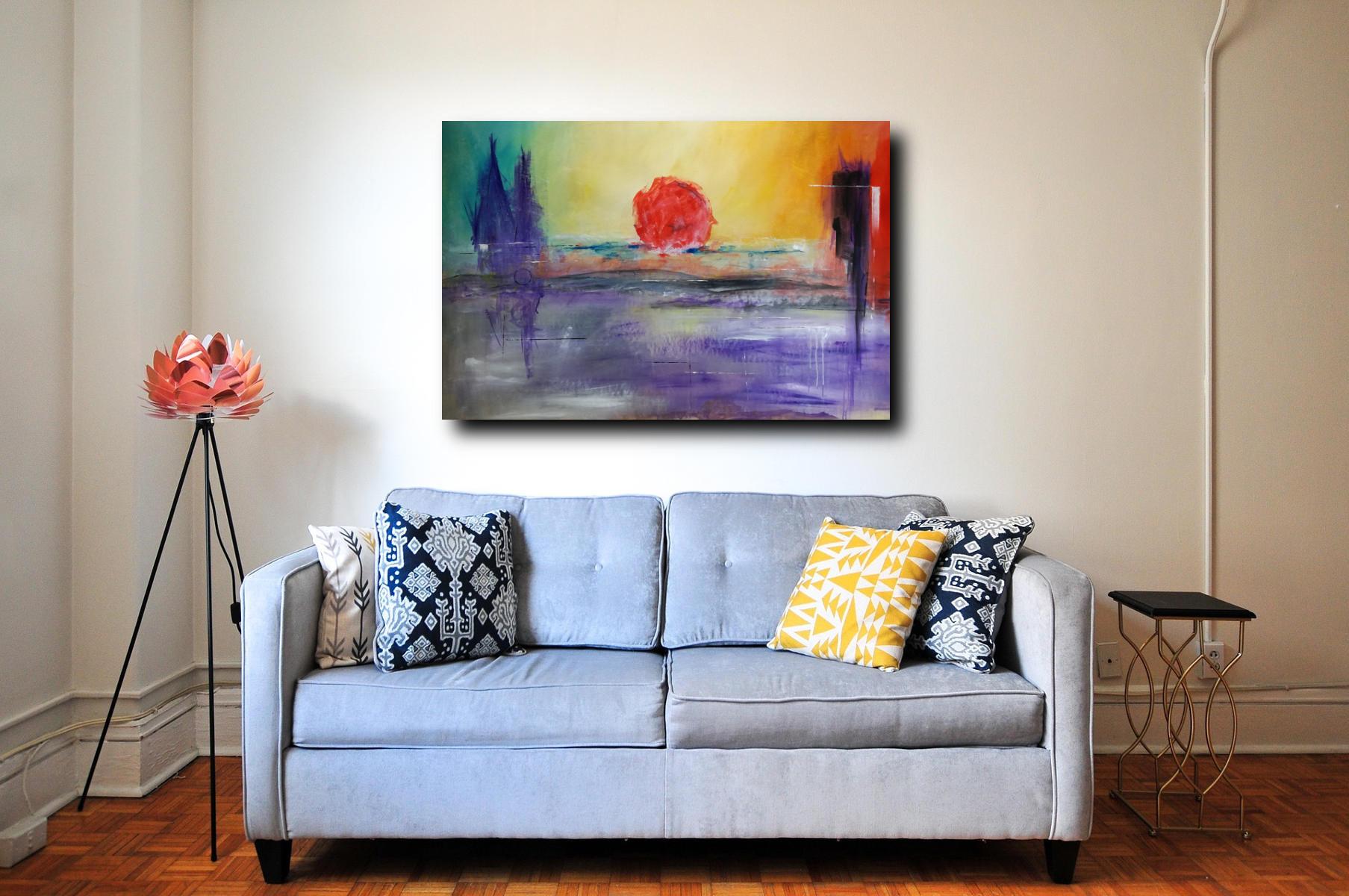 quadro su tela 120x80 paesaggio
