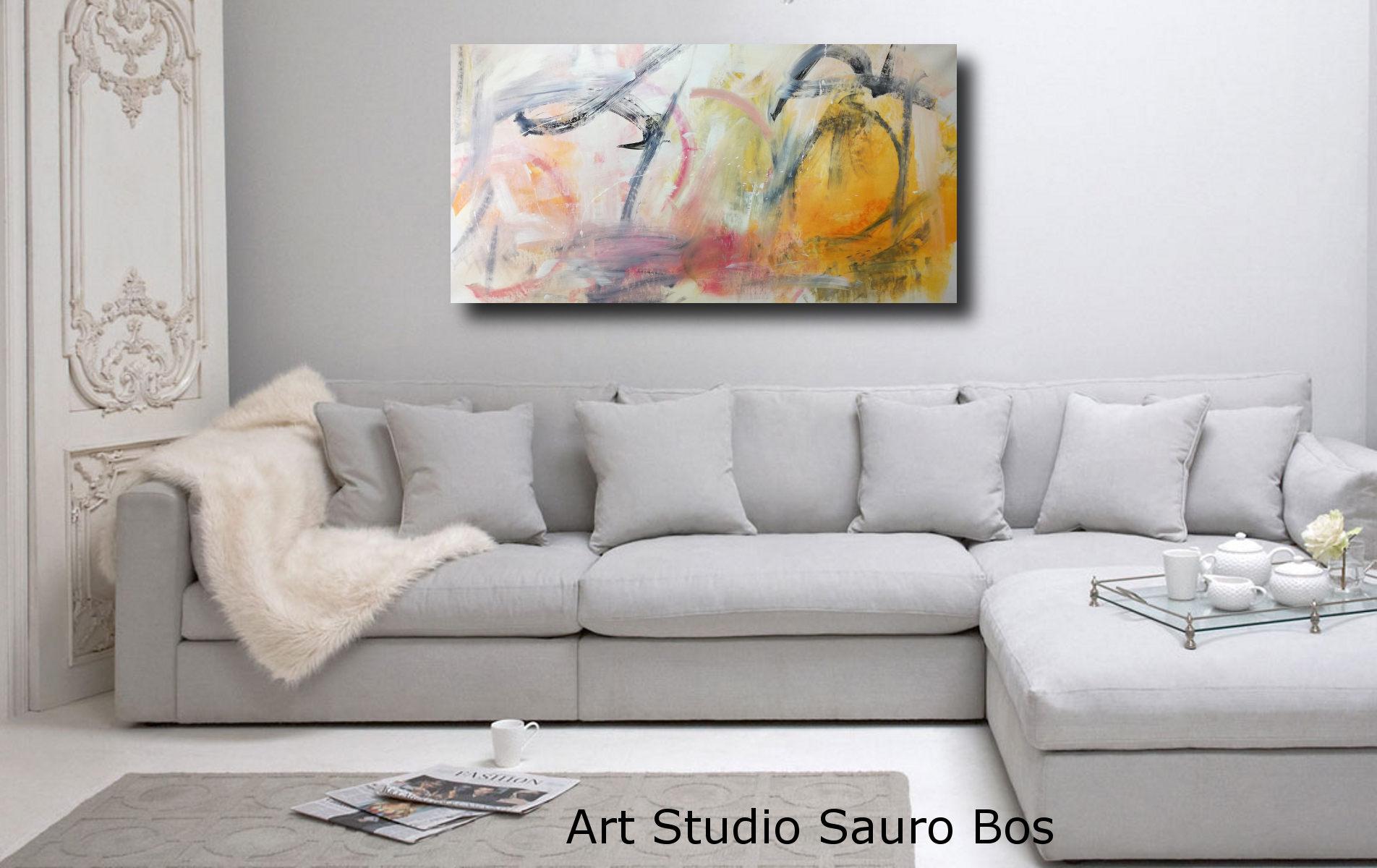 dipinti moderni orizzontali per soggiorno 120x60 | sauro bos