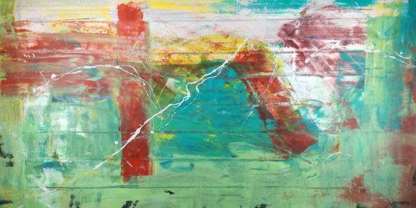 quadri astratti moseeni fatti a mano c199 600x300 - quadro astratto su tela grandi 120x60 verde
