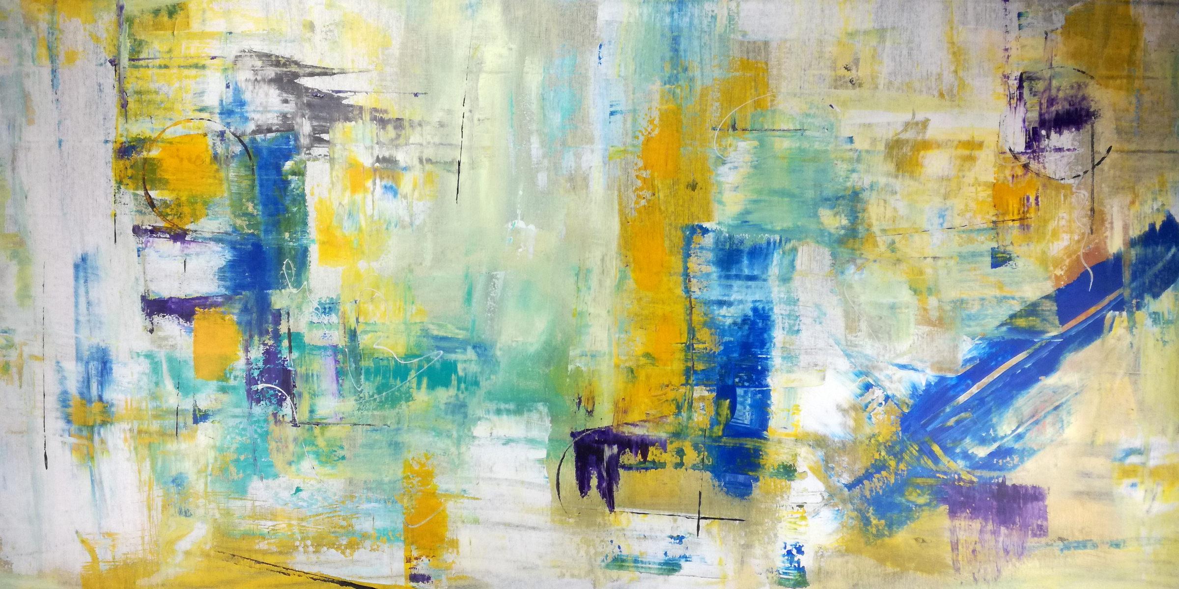 dipinto astratto su tela grandi 120x60 | sauro bos