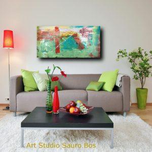 quadri astratti su tela verde c199 300x300 - quadro per soggiorno astratto con cornice oro 120x70
