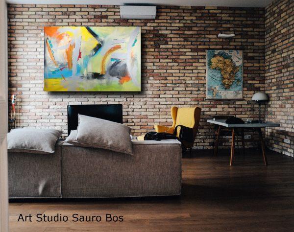quadri di grandi dimensioni c176 600x474 - quadri grandi  da parete 120x80 giallo arancio grigio nero
