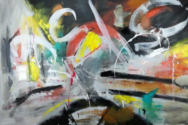 quadri grandi dipinti a mano c177 600x400 - quadri grandi  su tela 120x80 giallo ble grigio nero