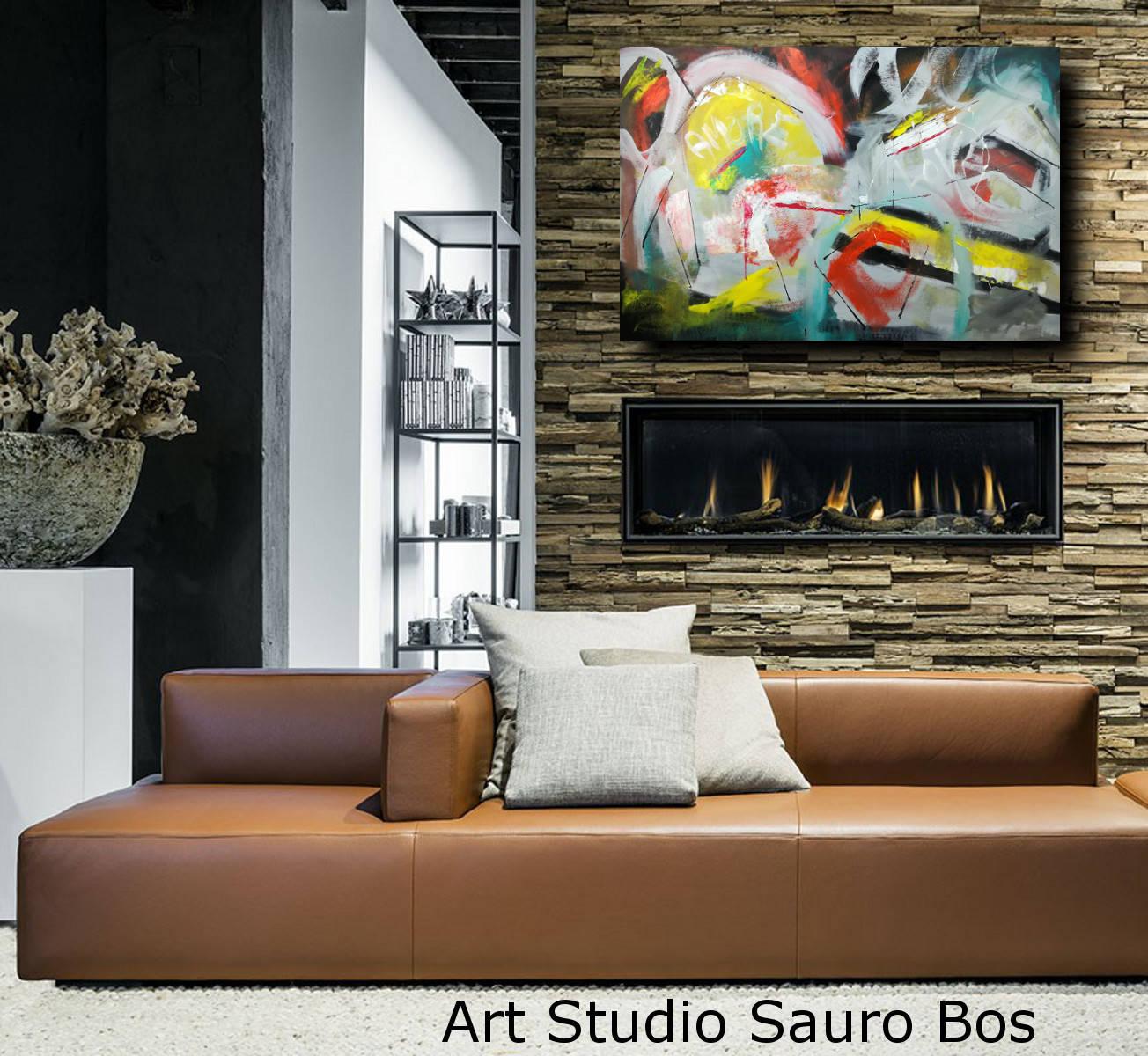 Quadri Moderni Grandi Dimensioni 120x80 Sauro Bos
