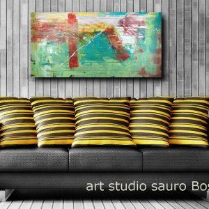 quadri moderni astratti su tela verde c199 300x300 - quadro per soggiorno astratto con cornice oro 120x70
