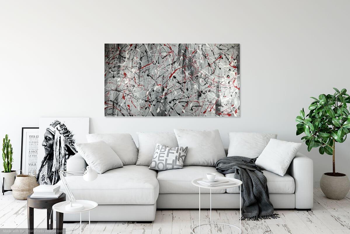 quadri 150x80 per soggiorno astratti su tela | sauro bos