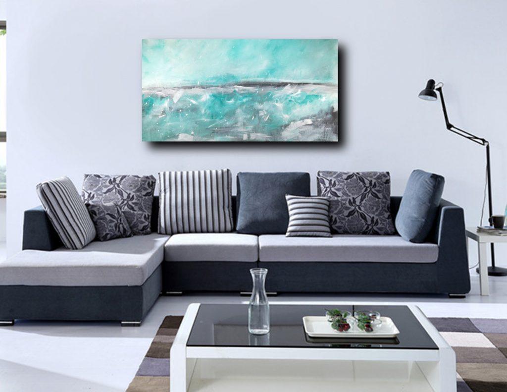 paesaggio astratto c215 1024x791 - quadri moderni per salotto