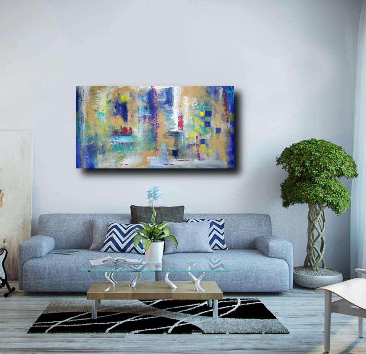quadri astratti su tela 150x80   sauro bos