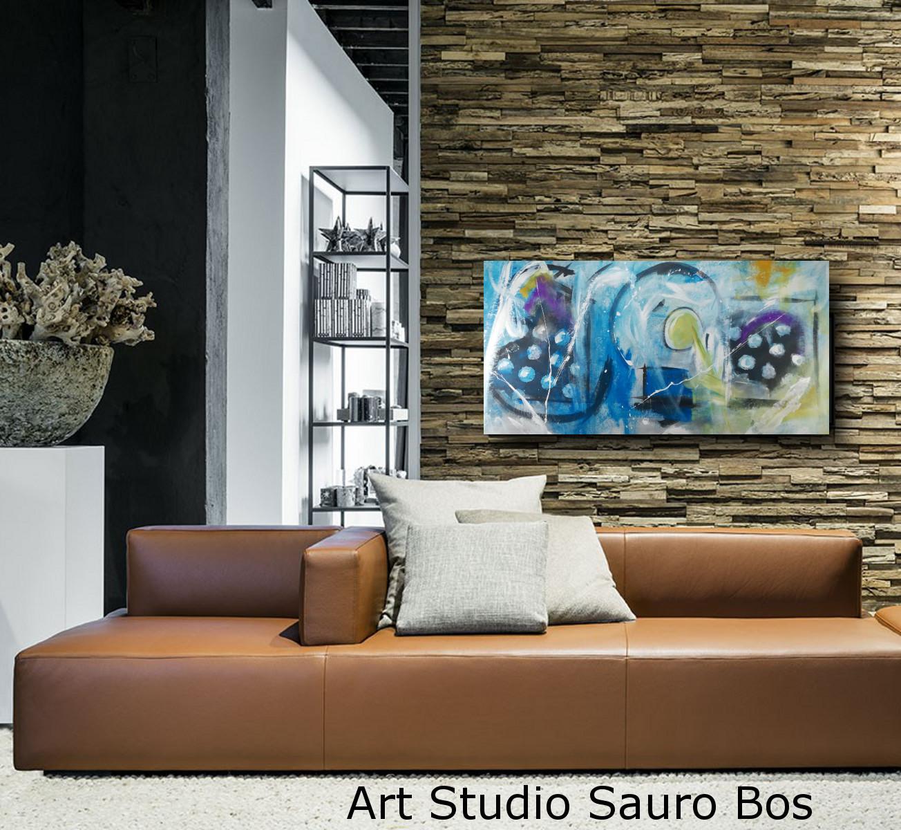 quadri astratti per case moderne 120x60 sauro bos